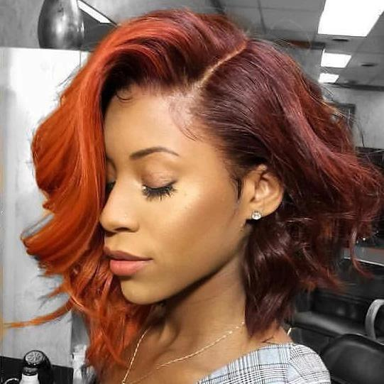 Light orange short wig - satisionline