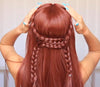 Orange Straight Long Wig - satisionline