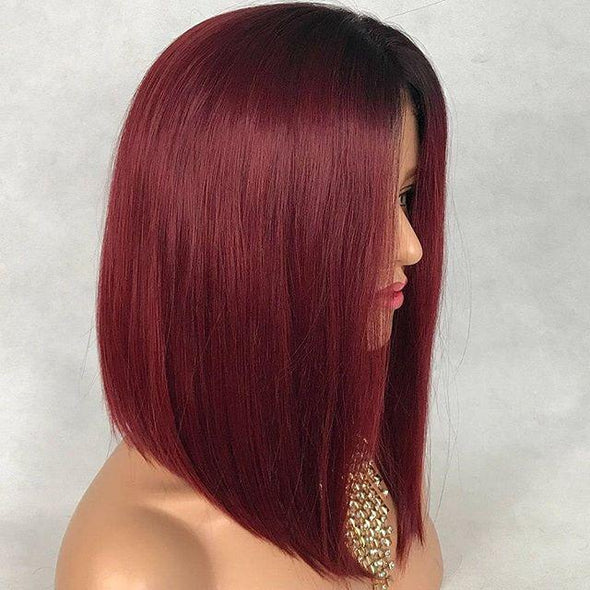 Charming Ombre Layered Bob Wigs - satisionline