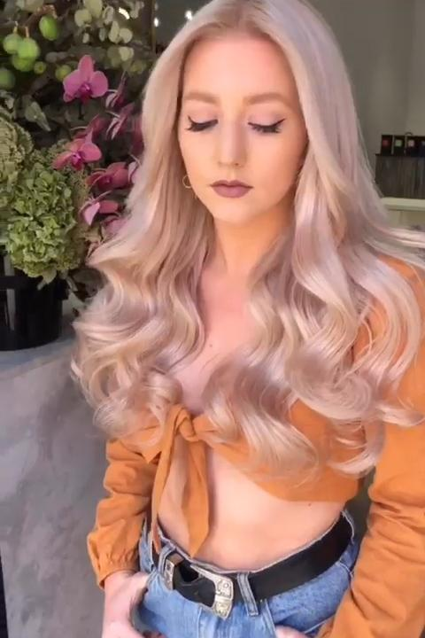 2019 Charming Rose Gold Wig - satisionline