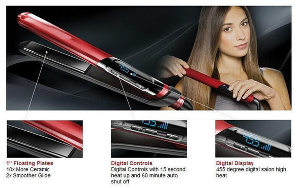 60%OFF TODAY-2 IN 1 Professional Hair Straightener And Hair Curler