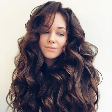 Big brown wave wig - satisionline