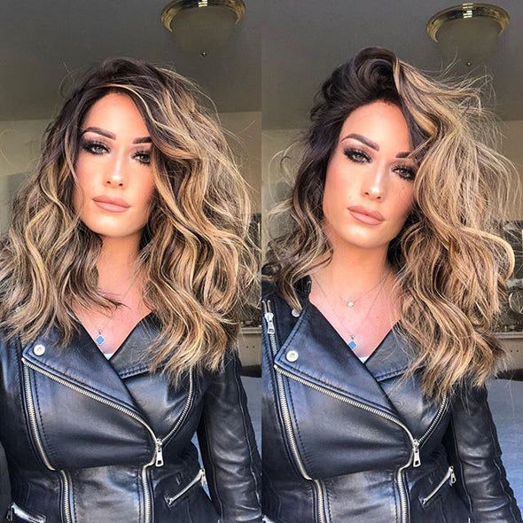 Perfect length messy waves wig - satisionline