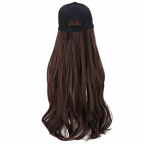 Dark brown small roll hat wig - satisionline