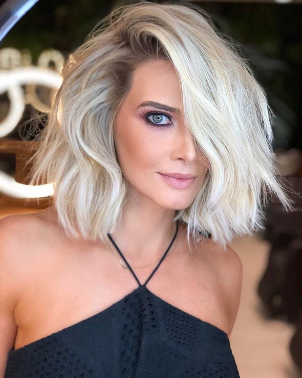 Amazing Lovely White Curly Short Wig - satisionline