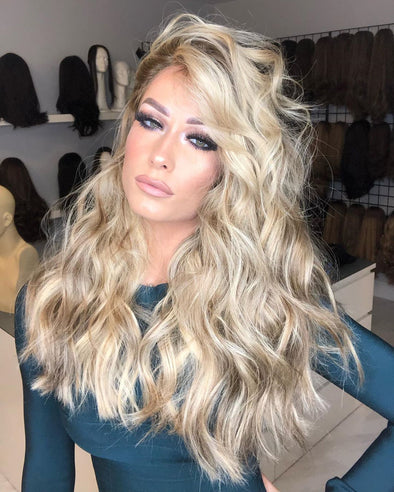 Gorgeous blonde wave curly wig - satisionline