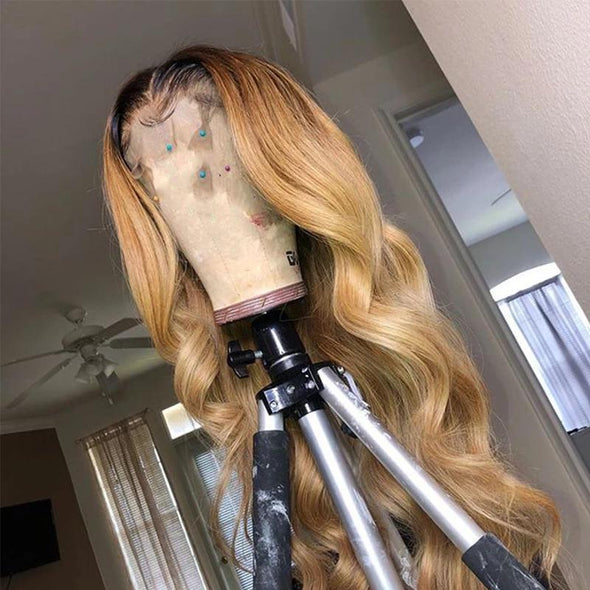 Front Silk Glueless Brazilian Gold Wigs - satisionline