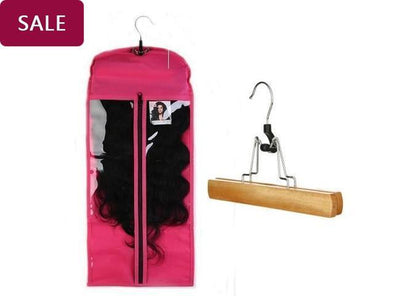Hair Hanger for Clip in Hair Extensions& Hair with Protection Case - satisionline