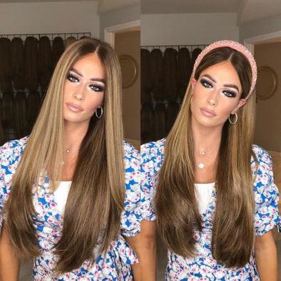 Perfect Summer Brown Straight Long Wig - satisionline