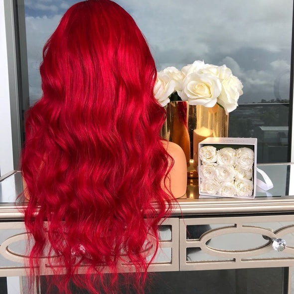 VIBRANT RED WIG - satisionline