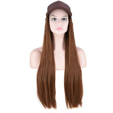 Light blond straight cap wig - satisionline