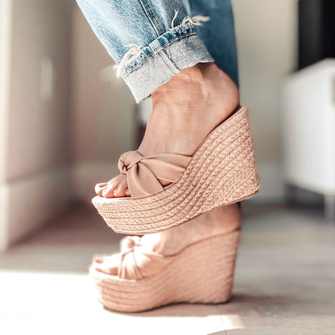 Chenai Nude Wedges