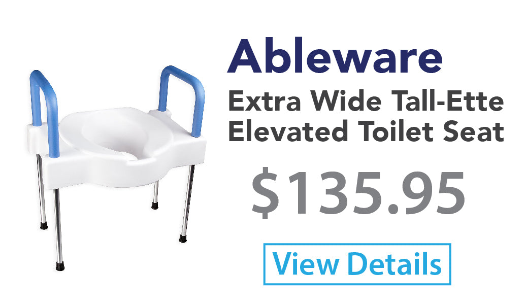 Ableware Extra Wide Tall-Ette Elevated Toilet Seat