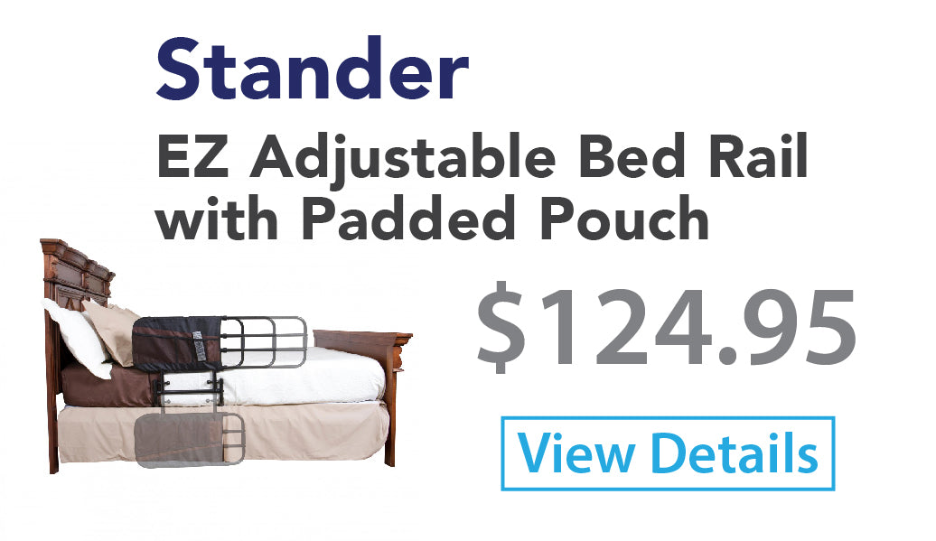EZ Adjustable Bed Rail with Padded Pouch