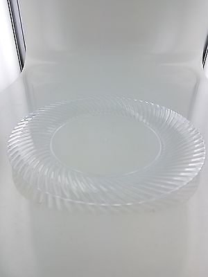 100 Premium Clear Plastic Plates for Dinner Party or Wedding - 6.25 Inch Fanc...