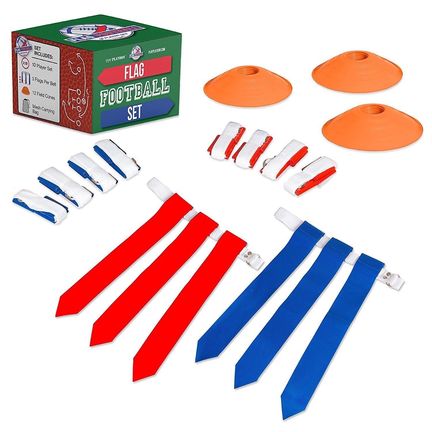 10 Player Flag Football Deluxe Set