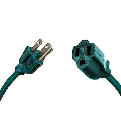 50 Ft Outdoor Extension Cord - 16/3 Heavy Duty Green Cable