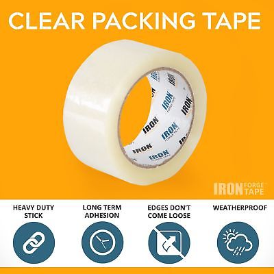 6 Clear Packing Tape Rolls - 1.88 inch x 60 Yards Heavy Duty Packaging Tape R...
