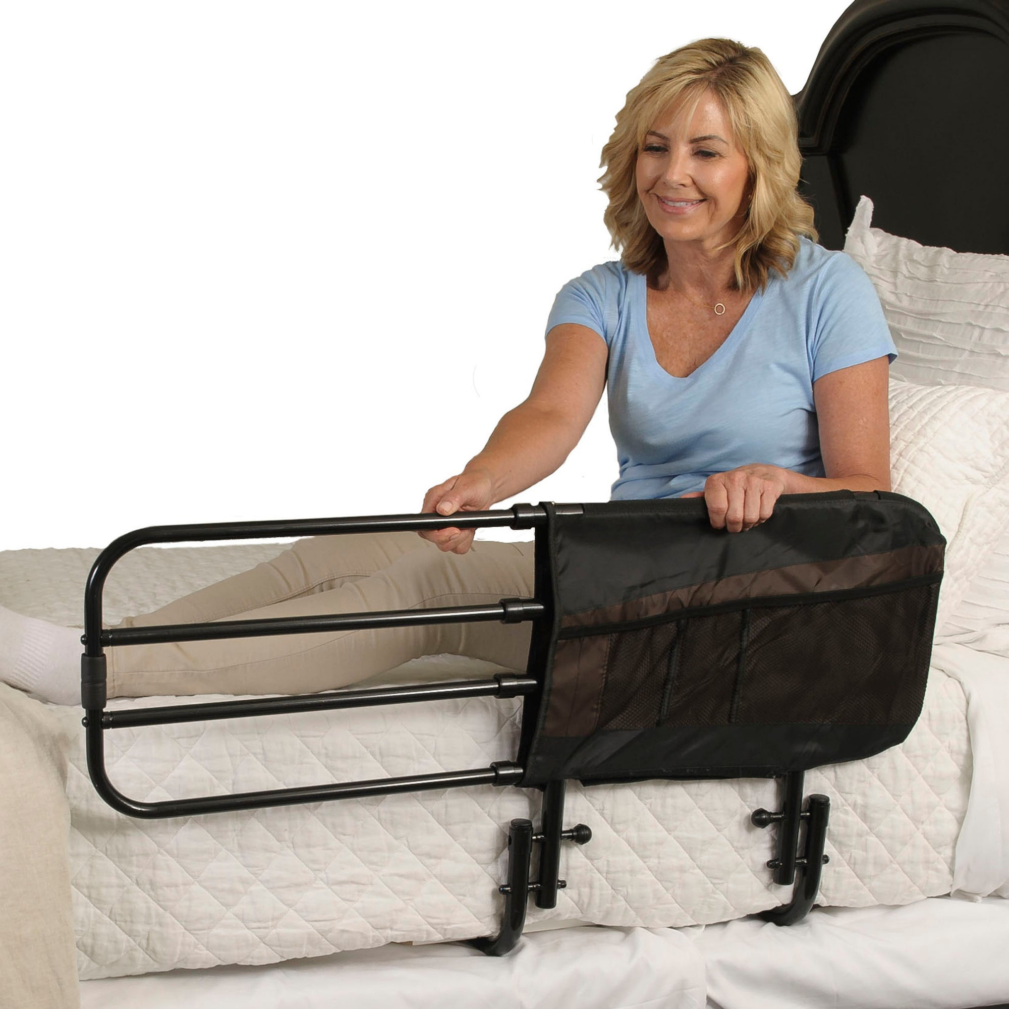 Stander EZ Adjustable Bed Rail with Padded Pouch