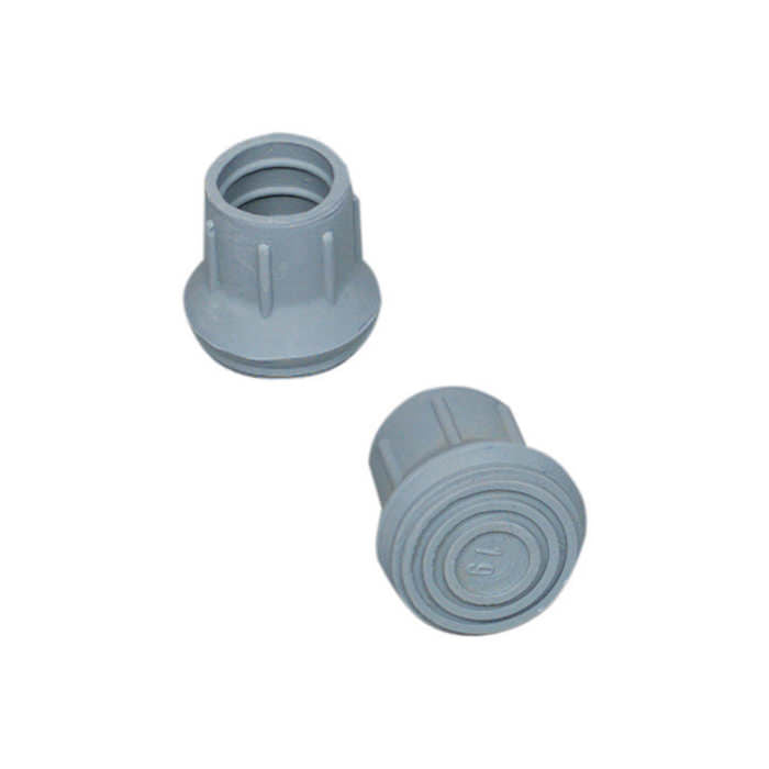 "Walker/Cane/Commode Replacement Tips, Gray, #19, 7/8"" 4/Box"