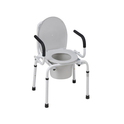 Mabis Drop-Arm Steel Commode