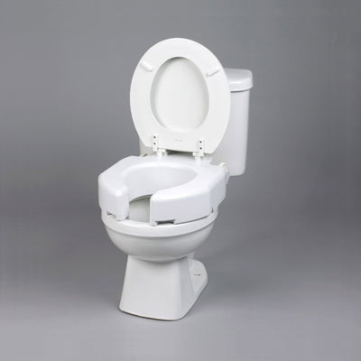 Secure-Bolt Hinged Elevated Toilet Seat