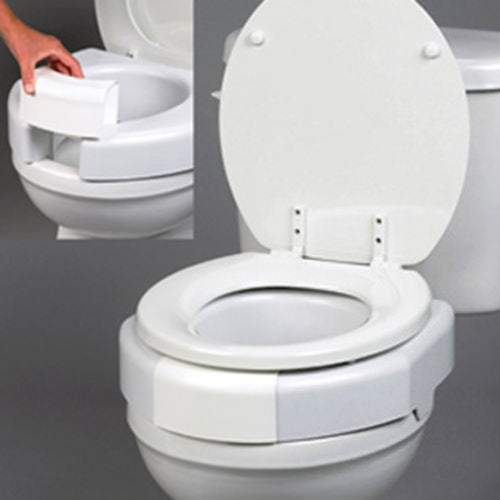 Secure-Bolted Elevated Toilet Seat
