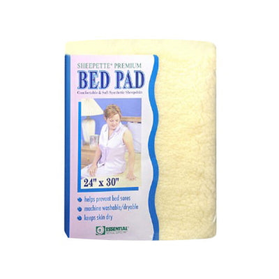 Essential Medical Sheepette Synthetic Sheepskin Bed Pad