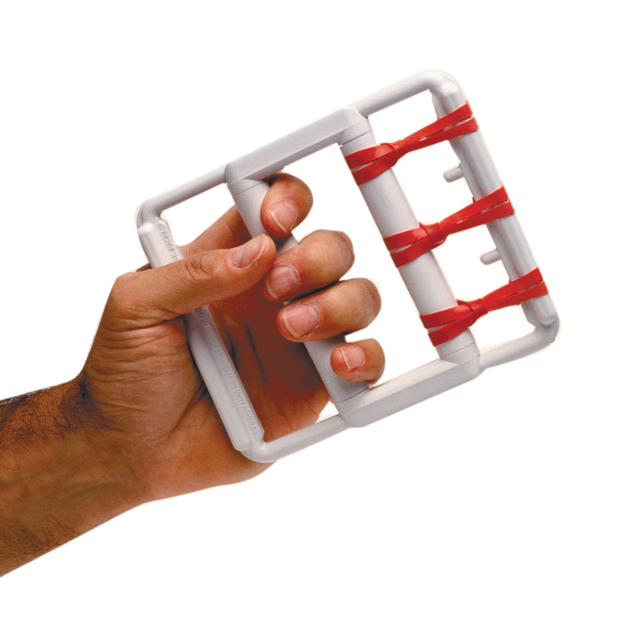 CanDo® Adjustable Rubber-Band Hand Exerciser, with 5 Red Bands