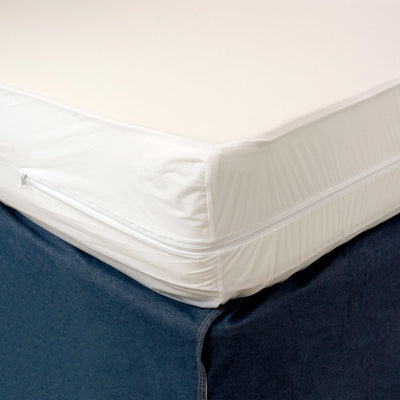 Heavy Duty Vinyl Split Boxspring Cover - California King Size (2 Hospital Twin XL Vinyls)