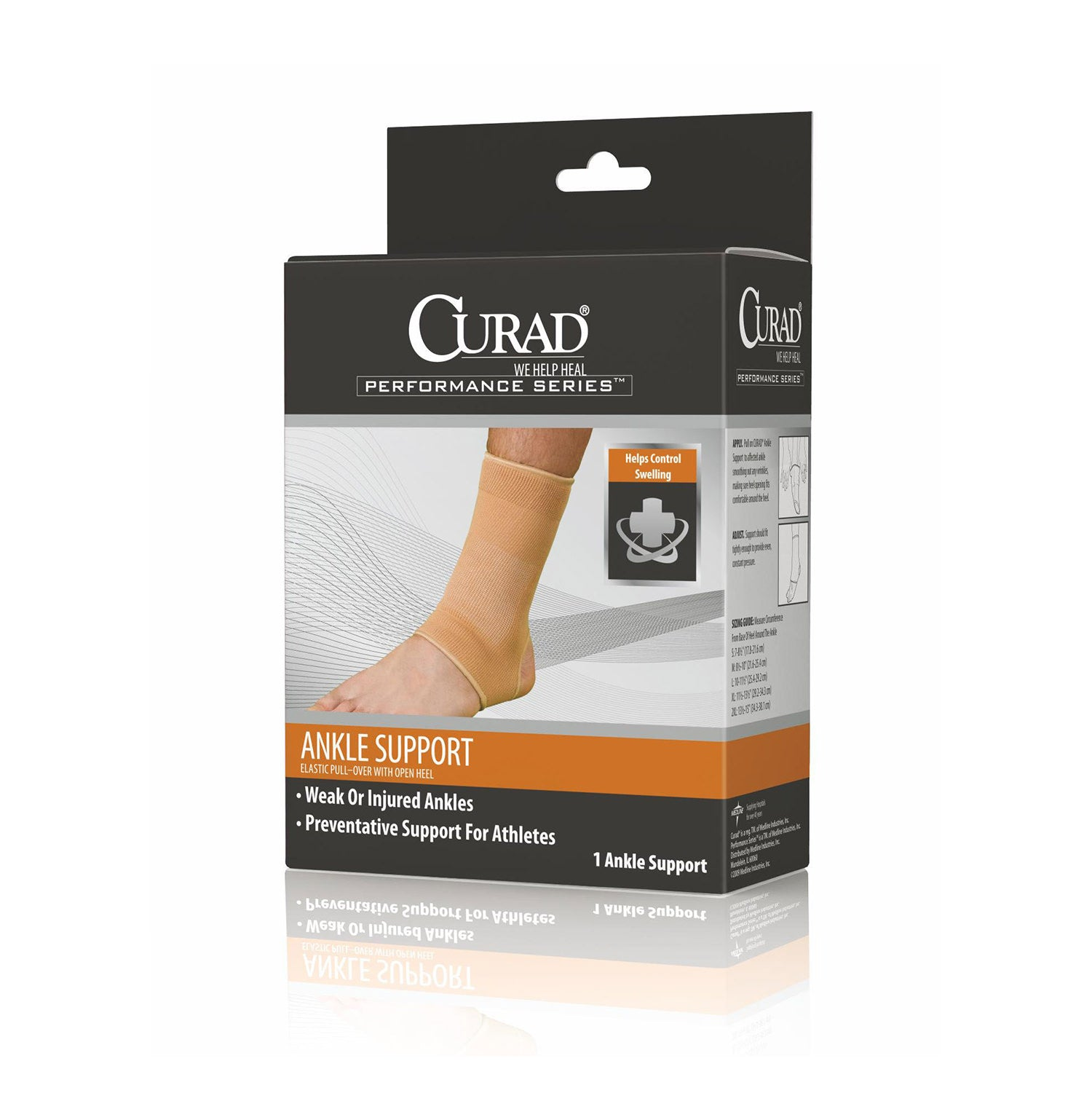 CURAD Open Heel Ankle Supports