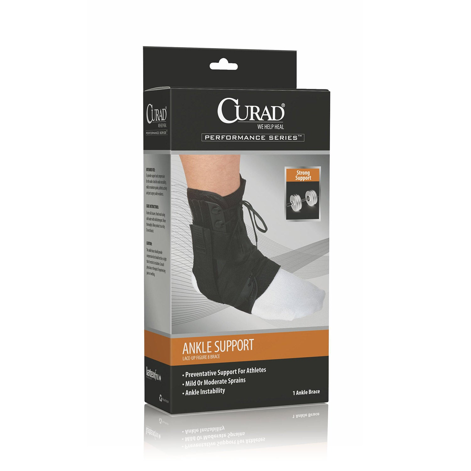 CURAD Figure Eight Lace-Up Ankle Splint