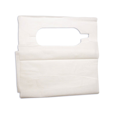 Disposable Paper Poly Lap Bib Overhead Style