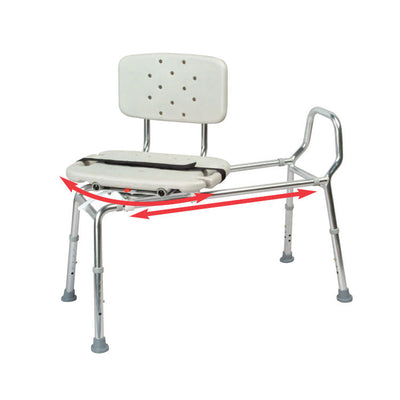 Snap-N-Save Sliding Transfer Bench with Swivel Seat