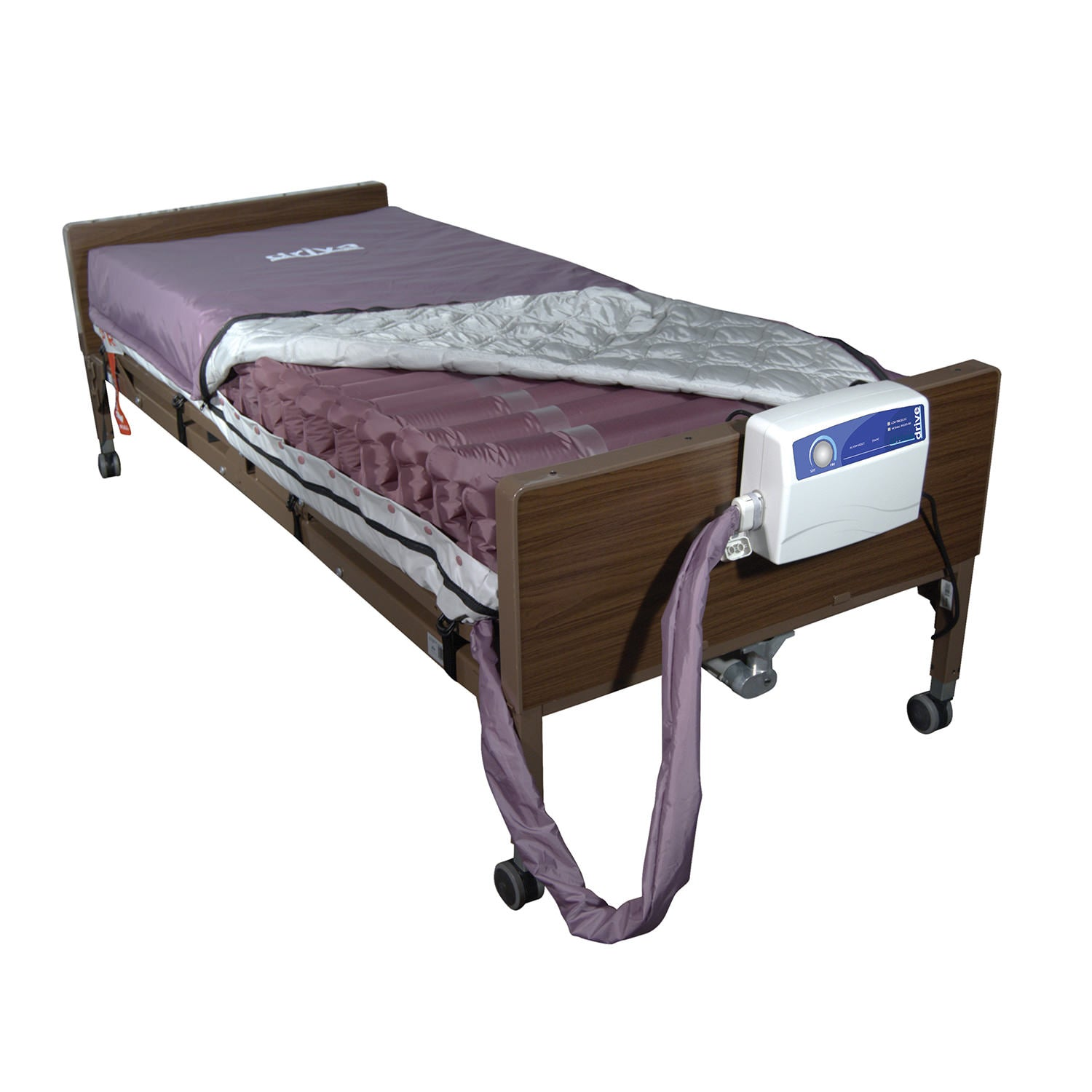 Med Air Alternating Pressure Mattress Replacement System with Low Air Loss Mattress