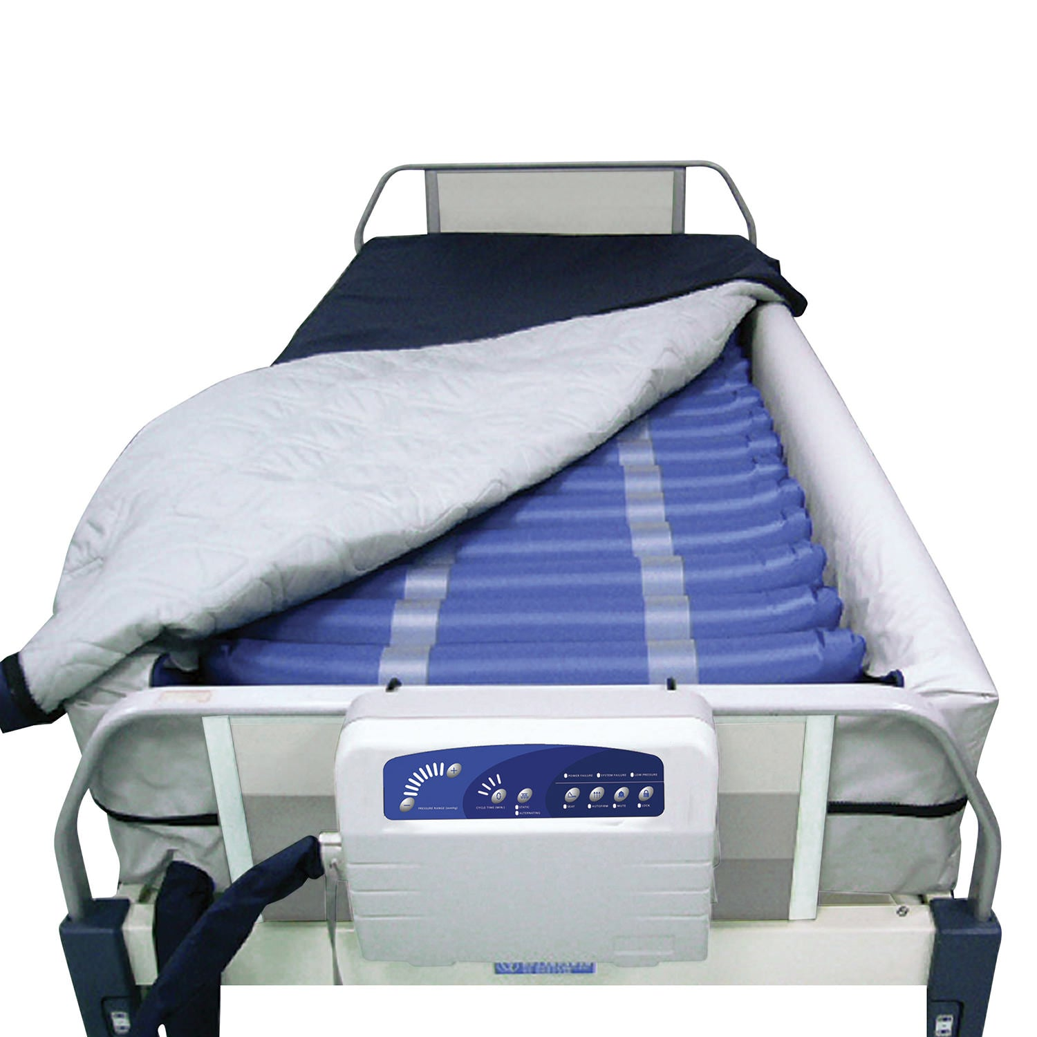 Med-Aire Plus Alternating Pressure Mattress Replacement System with Low Air Loss and Elevated Perimeter