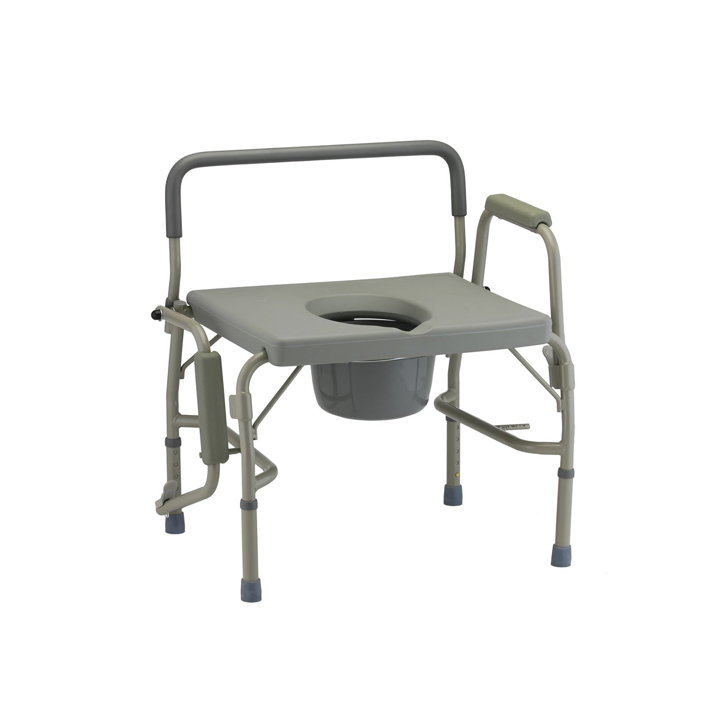 Nova Bariatric Commode with Drop-Arm and Extra-Wide Seat