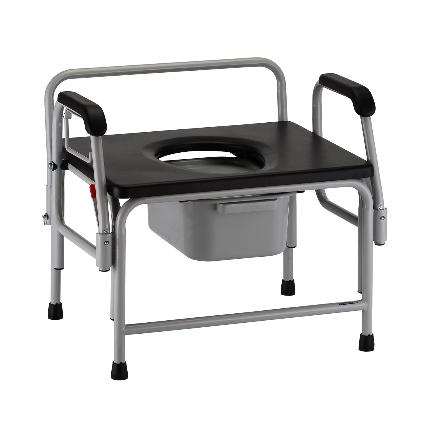 Nova Heavy Duty Bariatric Drop-Arm Commode with Extra-Wide Seat