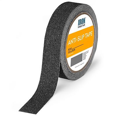 Black Anti Slip Tape - 1 inch x 30 Foot, 80 Grit Non Slip Grip Tape