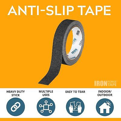 Black Anti Slip Tape - 2 inch x 15 Foot, 80 Grit Non Slip Grip Tape