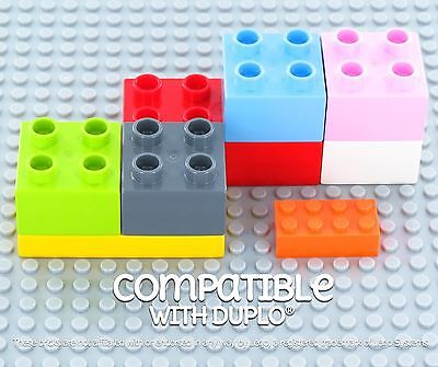 "Building Bricks - 10"" x 10"" Baseplate - Variety Pack (6 Pack) Compatible with..."