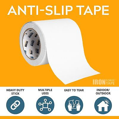 Clear Anti Slip Tape - 4 inch x 15 Foot, 80 Grit Non Slip Grip Tape