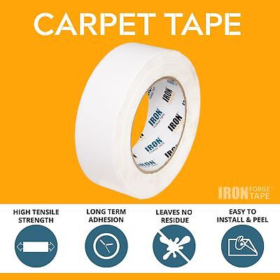 Double Sided Carpet Tape - 1 in x 40 Yards Two Sided Tape for Carpets