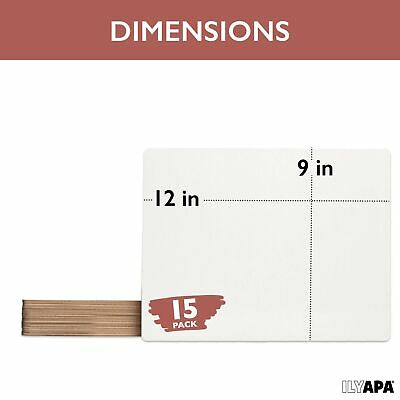 Dry Erase Lapboards Whiteboards - Pack of 15-9x12 White Board Lap Boards for ...