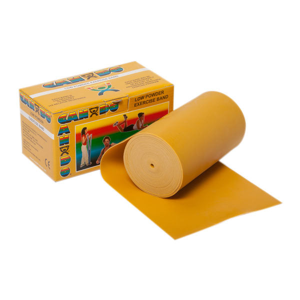 CanDo® Low Powder Exercise Band Roll - 6 Yards