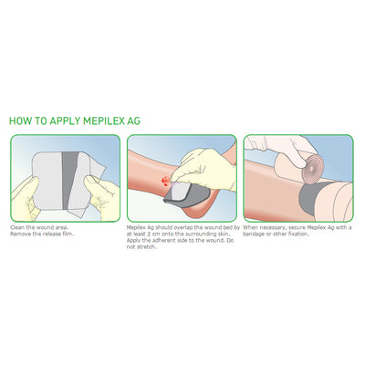 Mepilex® Ag Antimicrobial Soft Silicone Absorbent Foam Dressing
