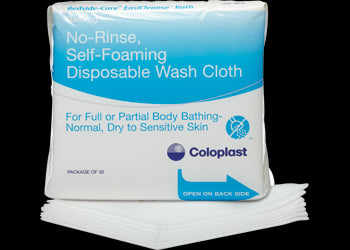 Bedside-Care EasiCleanse Disposable, No Rinse Wash Cloth, Pack of 30