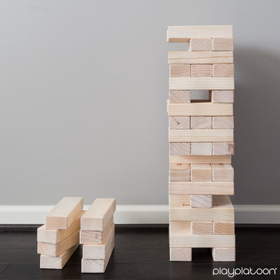 Giant Toppling Timbers - Large Tumbling Wood Tower Outdoor Game with Carrying Case
