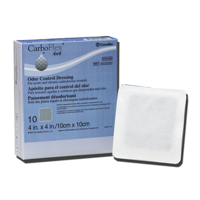 "CarboFLEX® Odor Control Dressing - 4"" x 4"" - Box of 10"