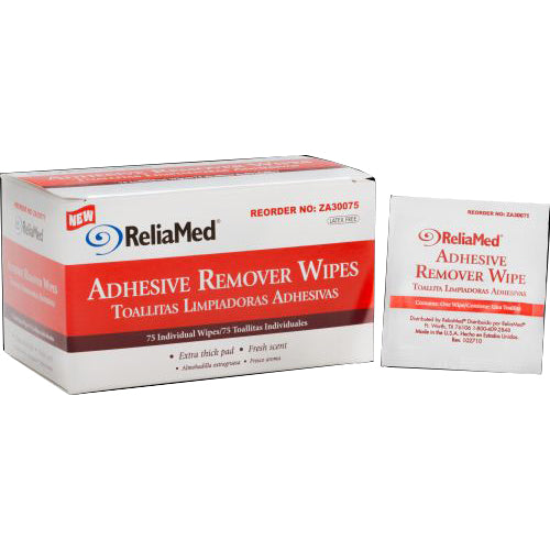 Reliamed Adhesive Remover Wipes, Latex Free
